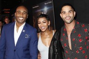 (L-R) Datari Turner, Meagan Good and Dijon Talton attend the Premiere Of A Boy. A Girl. A Dream.' at ArcLight Hollywood on September 11, 2018 in Hollywood, California.