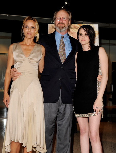 (L-R) Actors Maria Bello, William Hurt and Kristen Stewart attend the premiere of Samuel Goldwyn Films'