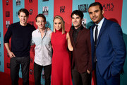 (L-R) Actors Chord Overstreet, Kevin McHale, Becca Tobin, Darren Criss and Jacob Artist attend the premiere screening of FX's 'American Horror Story: Freak Show' at TCL Chinese Theatre on October 5, 2014 in Hollywood, California.