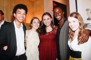 (L-R)   YoungArts Winners Justice Smith, Juliana Sass, Analisa Gutierrez, Nile Harris and Nadia Alexander attend the Premiere Screening Of The HBO Special Alan Alda: YoungArts MasterClass With Discussion By Alda And YoungArts Alumni on September 5, 2014 in New York City.