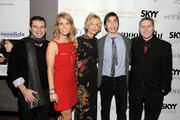 """Producer Michael Roif, director Cheryl Hines, actress Meg Ryan, actor Justin Long and Andy Ostroy attend the premiere of """"Serious Moonlight"""" at Cinema 2 on December 3, 2009 in New York City."""