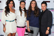 """(L-R) TV personalities Sara Bettencourt, Whitney Mixter, Cori Boccumini and Kacy Boccumini attend the premiere of Showtime's """"The Real L World"""" Season 3 at Revolver on July 17, 2012 in West Hollywood, California."""