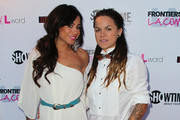 """TV personalities Sara Bettencourt (L) and Whitney Mixter attend the premiere of Showtime's """"The Real L World"""" Season 3 at Revolver on July 17, 2012 in West Hollywood, California."""
