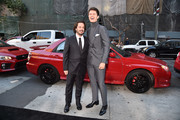 """Director Edgar Wright and actor Ansel Elgort attend the premiere of Sony Pictures' """"Baby Driver"""" at Ace Hotel on June 14, 2017 in Los Angeles, California."""