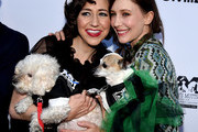 "Actresses Kristen Schaal (L) and Vera Farmiga arrive at the premiere of Sony Pictures Classics' ""Boundaries"" at the American Cinematheque's Egyptian Theatre on June 19, 2018 in Los Angeles, California."
