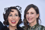 "Actors Kristen Schaal and Vera Farmiga attend the premiere of Sony Pictures Classics' ""Boundries"" at American Cinematheque's Egyptian Theatre on June 19, 2018 in Hollywood, California."