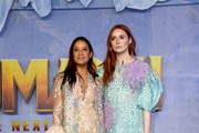 """Dania Ramirez and Karen Gillan attend the premiere of Sony Pictures' """"Jumanji: The Next Level"""" at TCL Chinese Theatre on December 09, 2019 in Hollywood, California."""