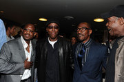 """Actors Martin Lawrence, Wesley Snipes, Eddie Murphy and Danny Glover arrive at Sony Pictures Releasing's """"Death At A Funeral"""" premiere held at Arclight Cinema on April 12, 2010 in Los Angeles, California."""