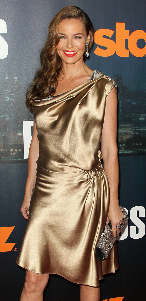 connie nielsen in premiere of starz boss   arrivals
