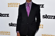 Actor Jessie T.Usher arrives at the Premiere Of Starz 'Survivor's Remorse' at Wallis Annenberg Center for the Performing Arts on September 23, 2014 in Beverly Hills, California.