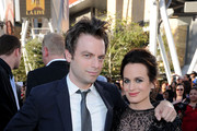 """Actor Justin Kirk (L) and actress Elizabeth Reaser arrive at the premiere of Summit Entertainment's """"The Twilight Saga: Eclipse"""" during the 2010 Los Angeles Film Festival at Nokia Theatre L.A. Live on June 24, 2010 in Los Angeles, California."""
