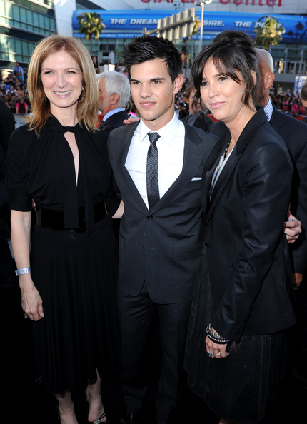 "Rebecca Yeldham Film Independent executive director Dawn Hudson, actor Taylor Lautner and LAFF festival director Rebecca Yeldham arrive at the premiere of Summit Entertainment's ""The Twilight Saga: Eclipse"" during the 2010 Los Angeles Film Festival at Nokia Theatre L.A. Live on June 24, 2010 in Los Angeles, California."