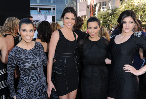 """Kendall Jenner (L-R) Sisters Kourtney Kardashian, Kendall Jenner, Kim Kardashian, Kylie Jenner arrive at the premiere of Summit Entertainment's """"The Twilight Saga: Eclipse"""" during the 2010 Los Angeles Film Festival at Nokia Theatre L.A. Live on June 24, 2010 in Los Angeles, California."""