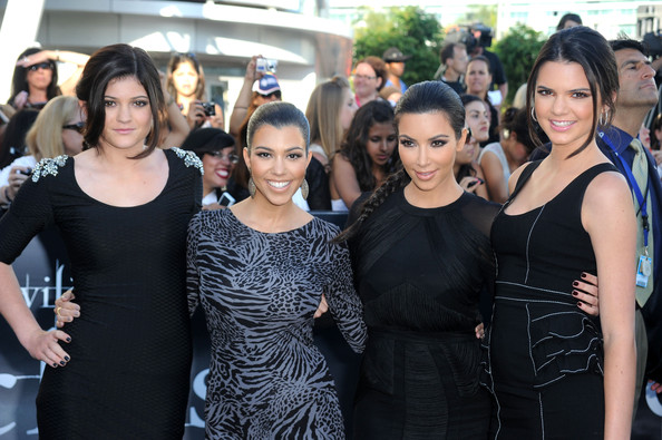 """Kendall Jenner (L-R) Sisters Kylie Jenner, Kourtney Kardashian, Kim Kardashian and Kendall Jenner arrive at the premiere of Summit Entertainment's """"The Twilight Saga: Eclipse"""" during the 2010 Los Angeles Film Festival at Nokia Theatre L.A. Live on June 24, 2010 in Los Angeles, California."""