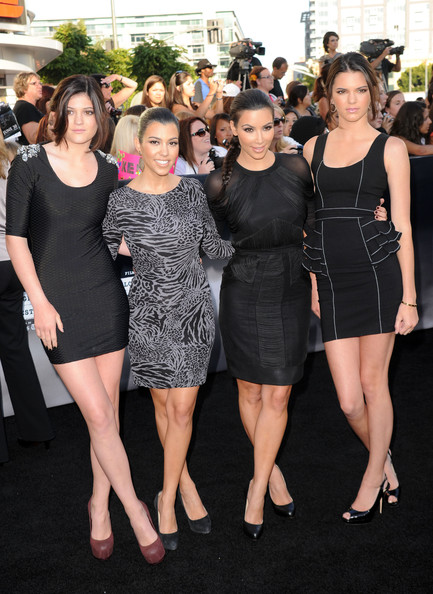 "Kendall Jenner (L-R) Sisters Kylie Jenner, Kourtney Kardashian, Kim Kardashian and Kendall Jenner arrive at the premiere of Summit Entertainment's ""The Twilight Saga: Eclipse"" during the 2010 Los Angeles Film Festival at Nokia Theatre L.A. Live on June 24, 2010 in Los Angeles, California."
