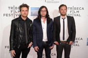 """(L to R) Jared Followill, Nathan Followill, and Caleb Followill of Kings of Leon attend the premiere of """"Talihina Sky: The Story of Kings of Leon"""" during the 2011 Tribeca Film Festival at BMCC Tribeca PAC on April 21, 2011 in New York City."""
