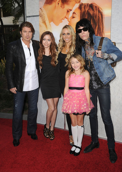 Tish Cyrus Singer Billy Ray Cyrus, Brandi Cyrus, Tish Cyrus, Noah Lindsey Cyrus, and Trace Cyrus arrive at the