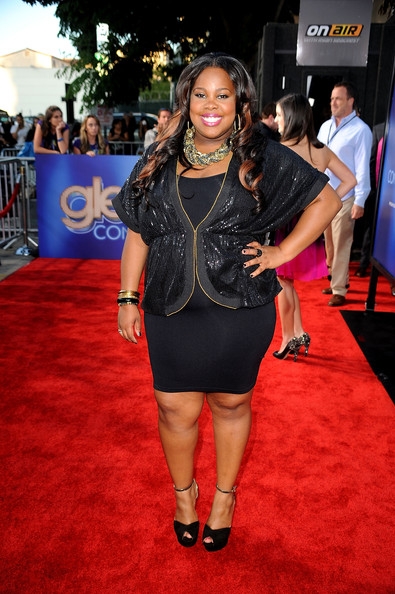 "Actress Amber Riley arrives at the Premiere Of Twentieth Century Fox's ""Glee The 3D Concert Movie"" at the Regency Village Theater on August 6, 2011 in Westwood, California."
