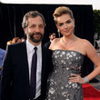 She hits the red carpet with Judd Apatow.
