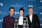 "(L-R) Matt Bomer, Jessica Biel, and Bill Pullman attend the Premiere of USA Network's ""The Sinner"" Season 3at The London West Hollywood on February 03, 2020 in West Hollywood, California."