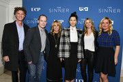 "(L-R) Charlie Gogolak, Bill McGoldrick, Bonnie Hammer, Jessica Biel, Dawn Olmstead, and Michelle Purple arrive at the Premiere of USA Network's ""The Sinner"" Season 3 at The London West Hollywood on February 03, 2020 in West Hollywood, California."
