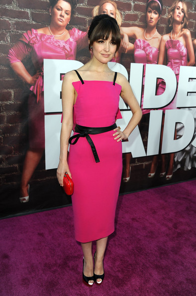 "Actress Rose Byrne arrives at the  Premiere of Universal Pictures' ""Bridesmaids"" at the Mann Village Theatre on April 28, 2011 in Westwood, California."