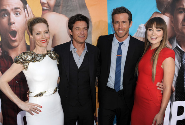"(L-R) Actors Leslie Mann, Jason Bateman, Ryan Reynolds, and Olivia Wilde arrive at the premiere of Universal Pictures' ""The Change-Up"" held at the Regency Village Theatre on August 1, 2011 in Los Angeles, California."