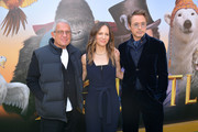 "(L-R) Vice Chairman of NBCUniversal Ron Meyer, Susan Downey, and Robert Downey Jr. attend the Premiere of Universal Pictures' ""Dolittle"" at Regency Village Theatre on January 11, 2020 in Westwood, California."