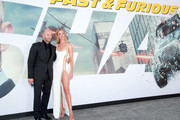 """Jason Statham (L) and Rosie Huntington-Whiteley attend the premiere of Universal Pictures' """"Fast & Furious Presents: Hobbs & Shaw"""" at Dolby Theatre on July 13, 2019 in Hollywood, California."""