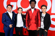 L-R) Brady Noon, Jacob Tremblay. Keith L. Williams and Chance Hurstfield arrive at the premiere of Universal Pictures' 'Good Boys' at the Regency Village Theatre on August 14, 2019 in Westwood, California.