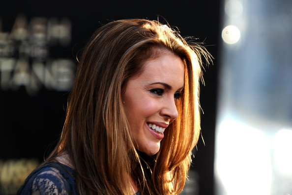 "Actress Alyssa Milano arrives to the premiere of Warner Bros. ""Clash Of The Titans"" held at Grauman's Chinese Theatre on March 31, 2010 in Los Angeles, California."