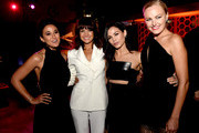 """(L-R) Actresses Emmanuelle Chriqui, Carla Gugino, Jenna Dewan Tatum and Malin Akerman pose at the after party for the premiere of Warner Bros. Pictures' """"Entourage"""" on June 1, 2015 in Los Angeles, California."""