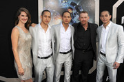 """(L-R) Actors Heather Doerksen, Charles Luu, Lance Luu, Max Martini and Mark Luu arrive at the premiere of Warner Bros. Pictures' and Legendary Pictures' """"Pacific Rim"""" at Dolby Theatre on July 9, 2013 in Hollywood, California."""
