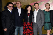 (L-R) Producers Mark Canton, Gianni Nunnari, Sue Kroll, President, Worldwide Marketing and International Distribution for Warner Bros. Pictures, producer/writer Zack Synder and producer Deborah Snyder attend the premiere of Warner Bros. Pictures and Legendary Pictures' '300: Rise Of An Empire' at TCL Chinese Theatre on March 4, 2014 in Hollywood, California.