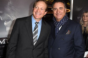 """Steve Guttenberg (L) and Andy Garcia arrive at the premiere of Warner Bros. Pictures' """"The Mule"""" at the Village Theatre on December 10, 2018 in Los Angeles, California."""