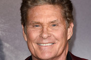 """David Hasselhoff arrives at the premiere of Warner Bros. Pictures' """"The Mule"""" at the Village Theatre on December 10, 2018 in Los Angeles, California."""