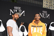Metta World Peace (L) and Ron Artest III attend the premiere of Warner Bros. Pictures' 'The Nun' at TCL Chinese Theatre on September 4, 2018 in Hollywood, California.
