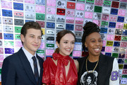 """Tye Sheridan, Olivia Cooke and Lena Waithe attend the Premiere of Warner Bros. Pictures' """"Ready Player One"""" at Dolby Theatre on March 26, 2018 in Hollywood, California."""