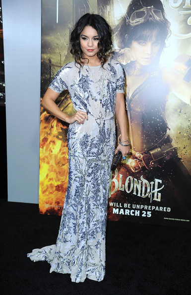 "Actress Vanessa Hudgens arrives at the premiere of Warner Bros Pictures' ""Sucker Punch"" at Grauman's Chinese Theatre on March 23, 2011 in Hollywood, California. (Photo by Frazer Harrison/Getty Images) on March 23, 2011 in Los Angeles, California."