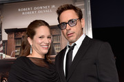 Producer Susan Downey (L) and executive producer/actor Robert Downey Jr. attend the Premiere of Warner Bros. Pictures and Village Roadshow Pictures' 'The Judge' at AMPAS Samuel Goldwyn Theater on October 1, 2014 in Beverly Hills, California.