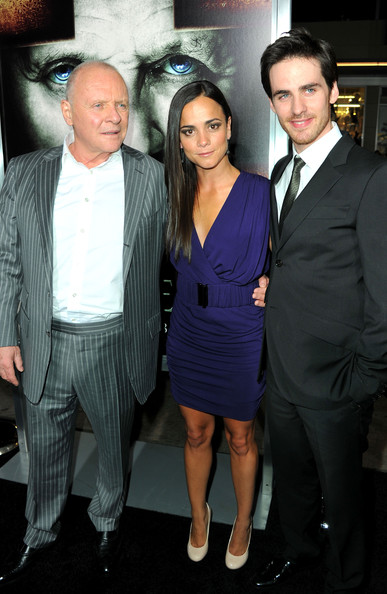 "Actors Sir Anthony Hopkins, Alice Braga  and Colin O'Donoghue arrive at Warner Bros. ""The Rite"" premiere at Grauman's Chinese Theatre on January 26, 2011 in Los Angeles, California."