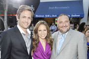 """(L-R) Actor Gabriel Macht, producers Susan Downey and Joel Silver pose at the premiere of Warner Bros. Pictures' """"Whiteout"""" at the Village Theater on September 9, 2009 in Los Angeles, California."""