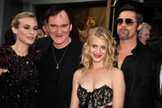 "Actress Diane Kruger, director/writer Quentin Tarantino, actress Melanie Laurent, and actor Brad Pitt arrive at the premiere of Weinstein Co.'s ""Inglorious Basterds"" held at Grauman's Chinese Theatre on August 10, 2009 in Hollywood, California."