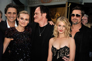 "Producer Lawrence Bender, actress Diane Kruger, director/writer Quentin Tarantino, actress Melanie Laurent, and actor Brad Pitt arrive at the premiere of Weinstein Co.'s ""Inglorious Basterds"" held at Grauman's Chinese Theatre on August 10, 2009 in Hollywood, California."