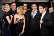 "(L-R) Actress Diane Kruger, director Quentin Tarantino, actress Melanie Laurent, actors Brad Pitt, Eli Roth, and B.J. Novak arrive at the premiere of Weinstein Co.'s ""Inglorious Basterds"" held at Grauman's Chinese Theatre on August 10, 2009 in Hollywood, California."