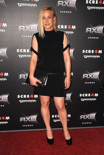 "Actress Patricia Arquette arrives at the premiere of the Weinstein Company's ""Scream 4"" at Grauman's Chinese Theatre on April 11, 2011 in Hollywood, California."