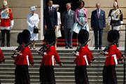 (L-R) Queen Elizabeth II, US President Barack Obama, Camilla, Duchess of Cornwall, Prince Charles, Prince of Wales, First Lady Michelle Obama and Prince Philip, Duke of Edinburgh review a guard of honour during a ceremonial welcome in the garden of Buckingham Palace on May 24, 2011 in London, England. The 44th President of the United States, Barack Obama, and his wife Michelle are in the UK for a two day State Visit at the invitation of HM Queen Elizabeth II. During the trip they will attend a state banquet at Buckingham Palace and the President will address both houses of parliament at Westminster Hall.