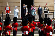(L-R) Queen Elizabeth II, US President Barack Obama, Camilla, Duchess of Cornwall, Prince Charles, Prince of Wales, First Lady Michelle Obama and Prince Philip, Duke of Edinburgh listen to the US National Anthem during a ceremonial welcome in the garden of Buckingham Palace on May 24, 2011 in London, England. The 44th President of the United States, Barack Obama, and his wife Michelle are in the UK for a two day State Visit at the invitation of HM Queen Elizabeth II. During the trip they will attend a state banquet at Buckingham Palace and the President will address both houses of parliament at Westminster Hall.