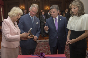 President of Colombia Juan Manuel Santos Prince Charles Visits Columbia: Day 2