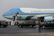 President Barack Obama and Michelle Obama followed by their daughters, Malia and Sasha walk down the stairs as they arrive at Jose Marti International Airport on Airforce One for a 48-hour visit on March 20, 2016 in Havana, Cuba. Mr. Obama's visit is the first in nearly 90 years for a sitting president, the last one being Calvin Coolidge.